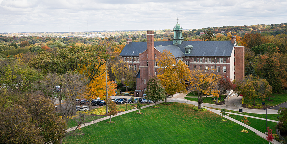 warde hall and greenspace